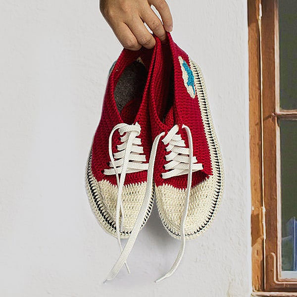 Knit and Leather Knitted Sneakers Gift Idea For Him