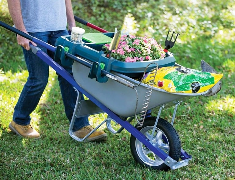 Little Burro Wheelbarrow Organizer Multipurpose Patio Things