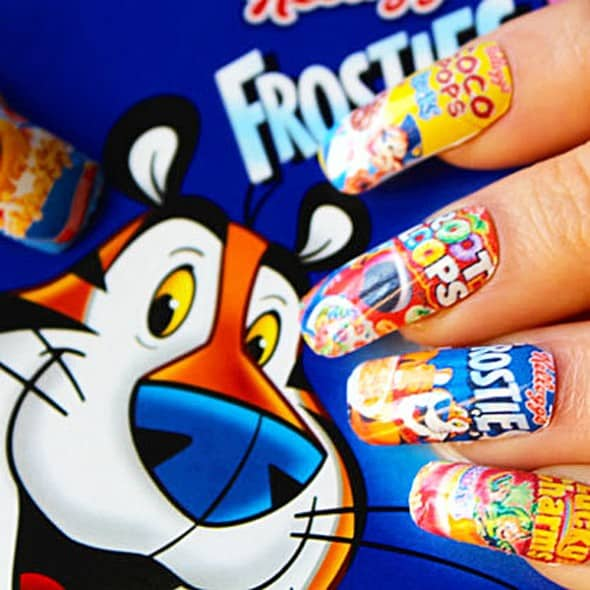 Nailcat Super Cereal Serving Breakfast Realness Nail Decals Gift Idea For Her
