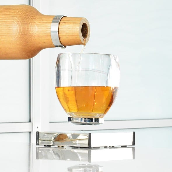 Oak Bottle Levitating Cup Awesome Gift Idea