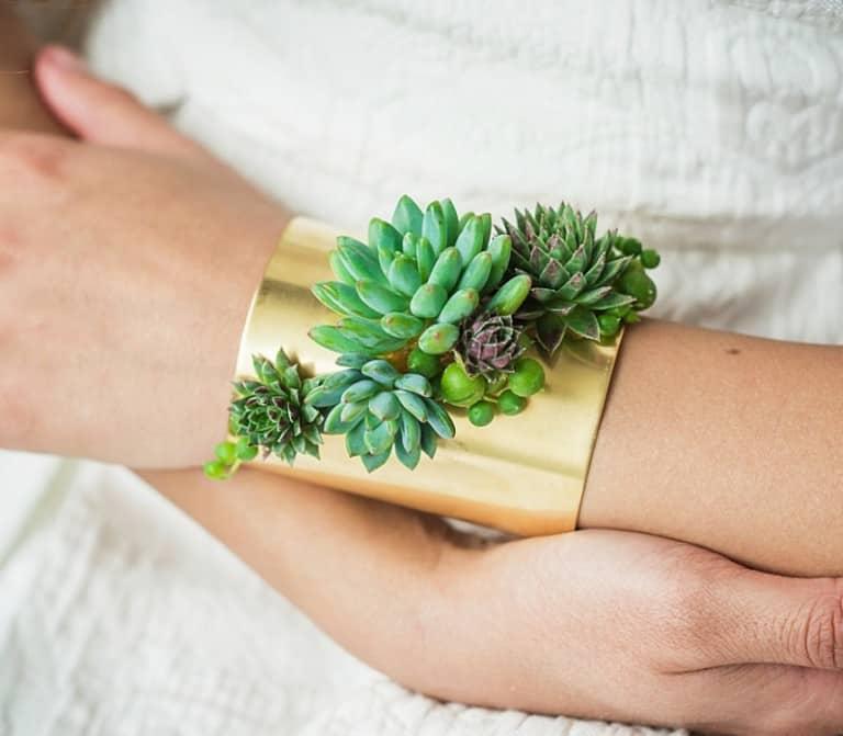 Passionflower Succulent Cuff Bracelet Buy Unique Jewelry