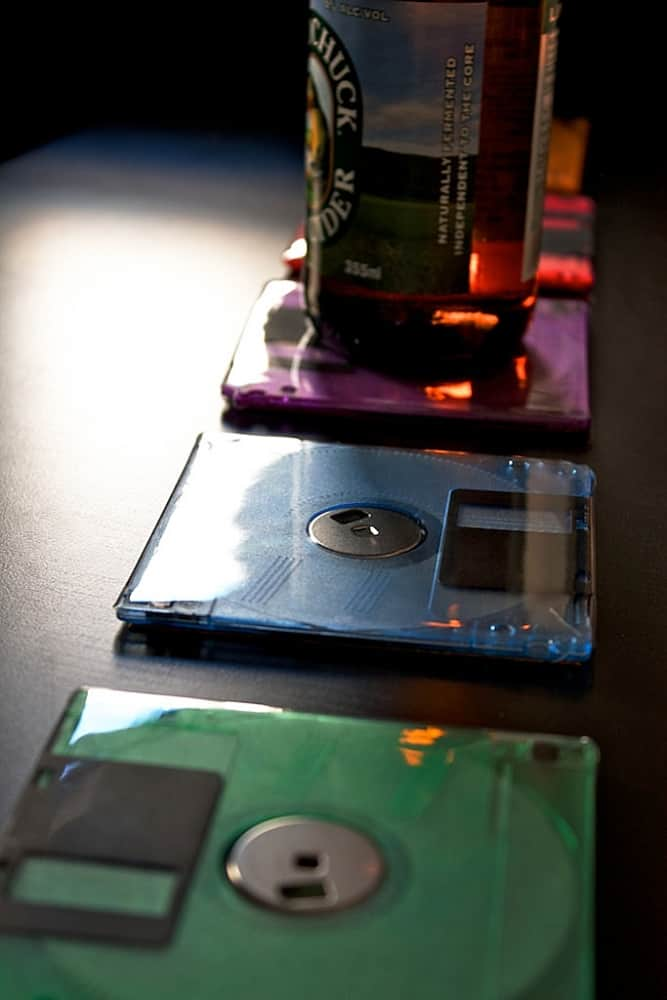 Techno Chic Floppy Disk Coasters Cool Techy Home Tools