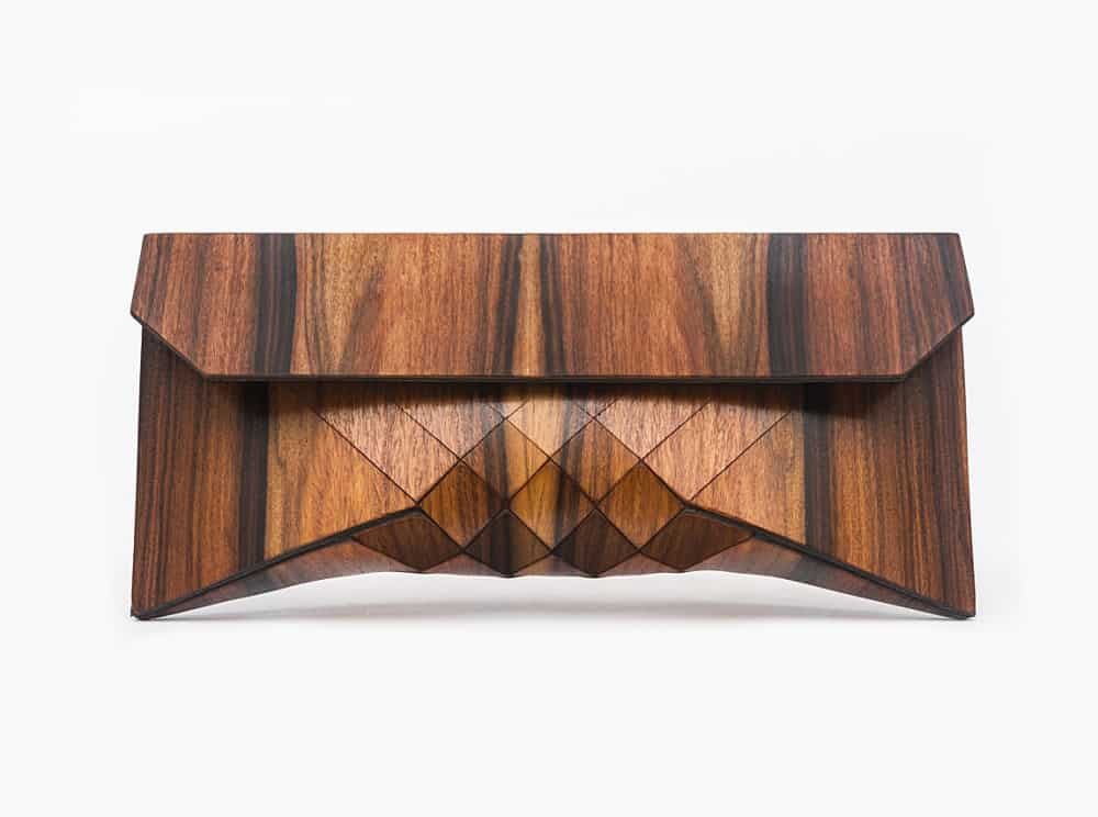 Tesler Mendelovitch Wood Clutch Cool Wooden Design Accessory