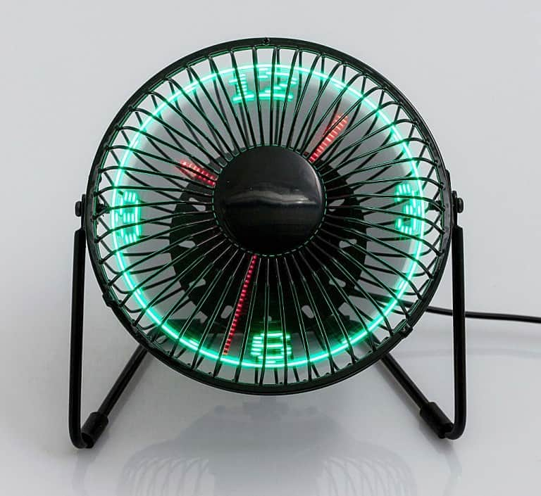 USB LED Clock Fan Fun Things To Have At Home
