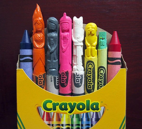 Wax Nostalgic Adventure Time Carved Crayons Gift Idea For Kids