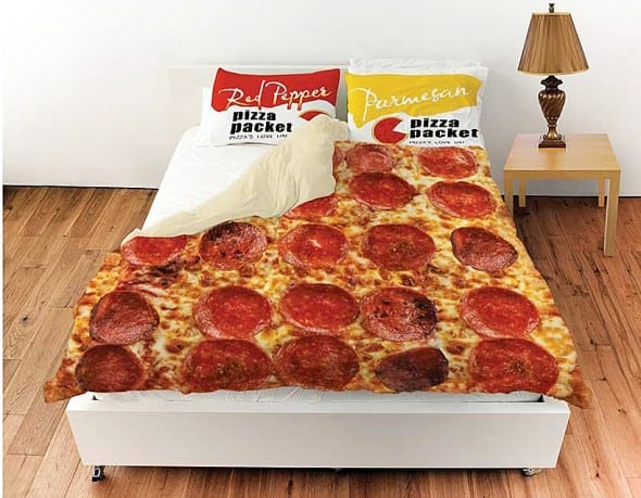I want to lay you down in a bed of pepperoni pizza.