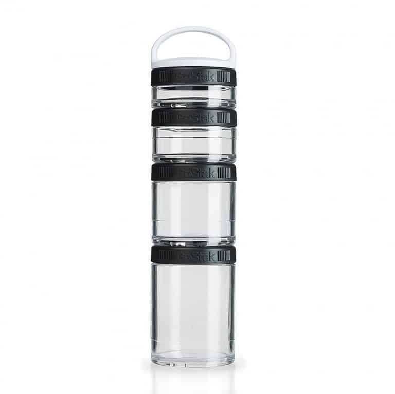 Blender Bottle Go Stak Twist N' Lock Storage Jars Portable Food Organizer