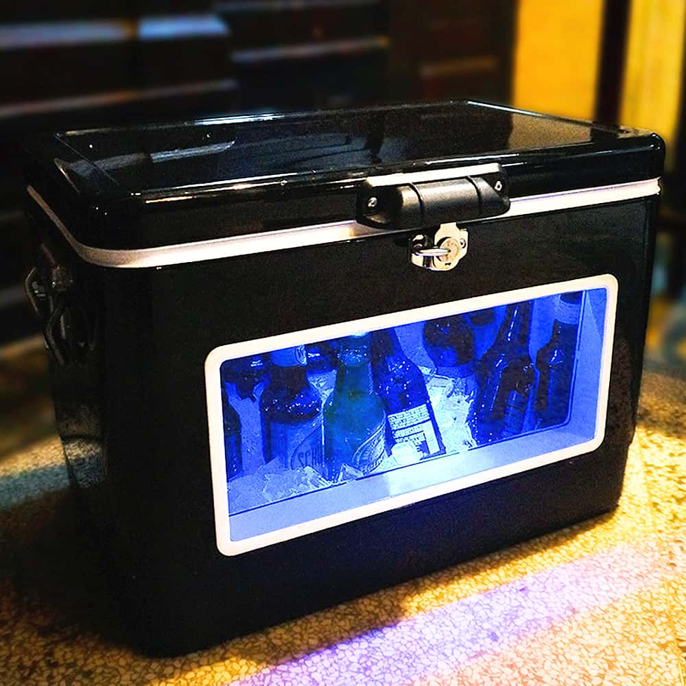 Cooler parties with a black LED party cooler.