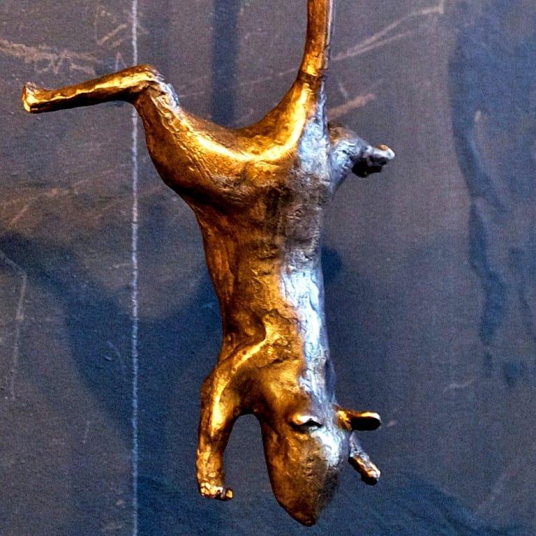 Casadelgatto Bronze Cat Door Knocker Sculpture  House Hardware