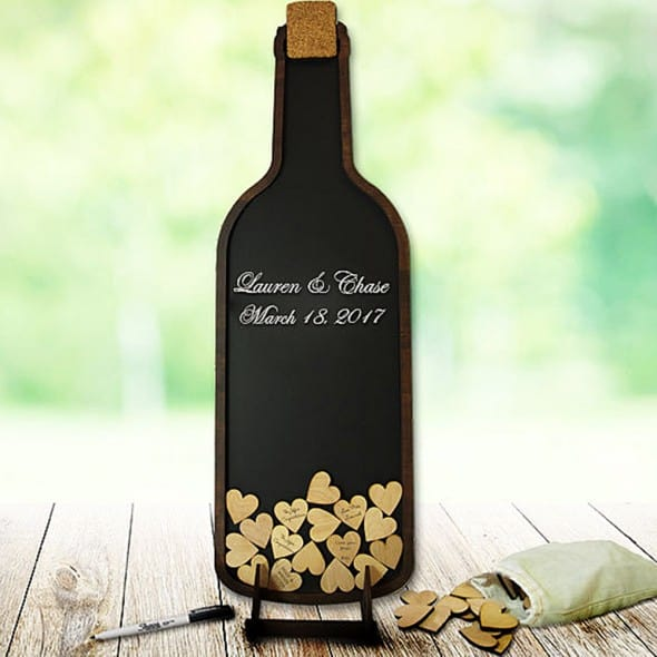Coosa Designs Wine Bottle Guest Book Gift for Occasions
