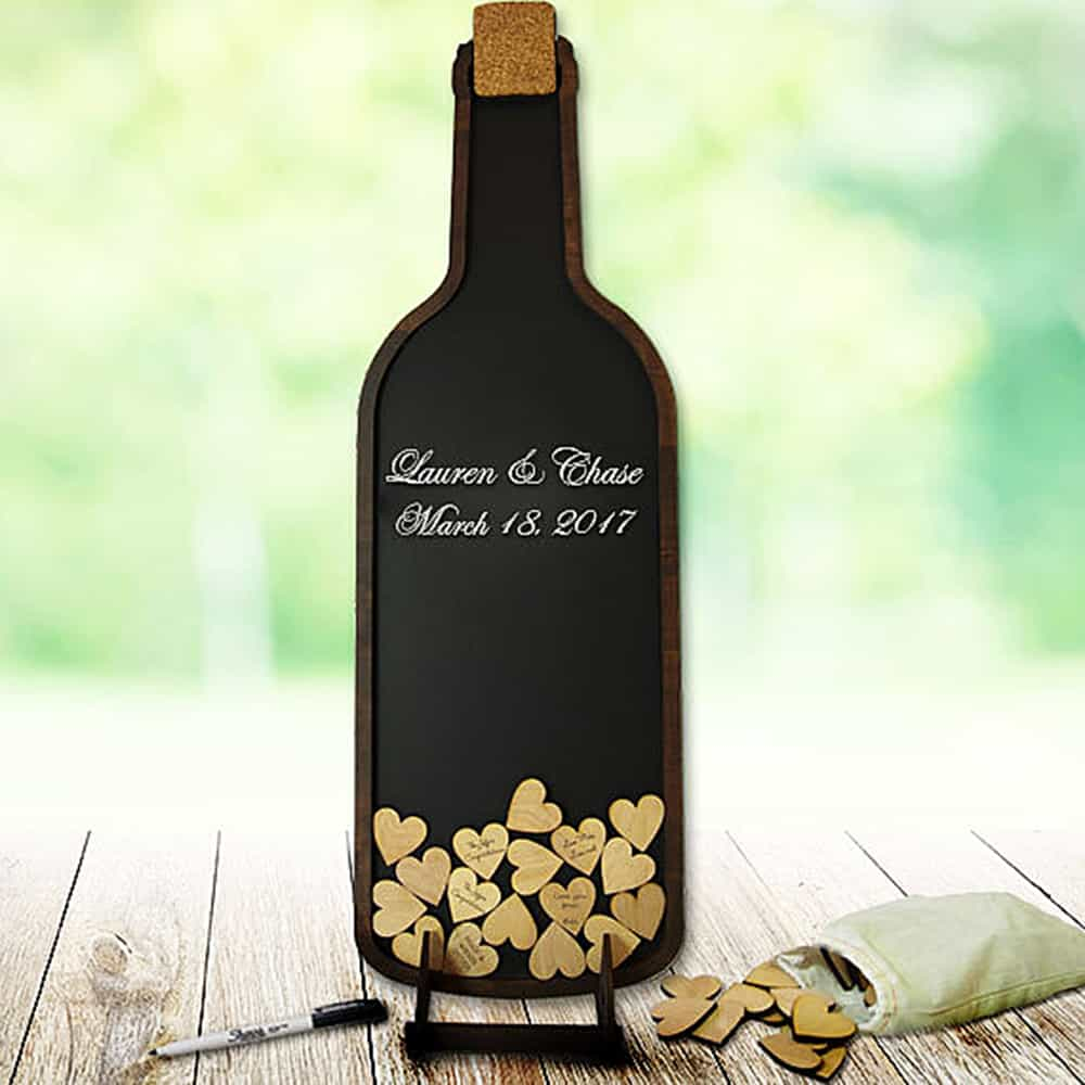 Hearts and well wishes in a bottle.