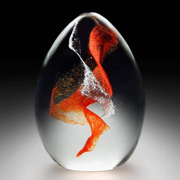 Crystal Remembrance Pet Memorial Mini Egg Cool Memento