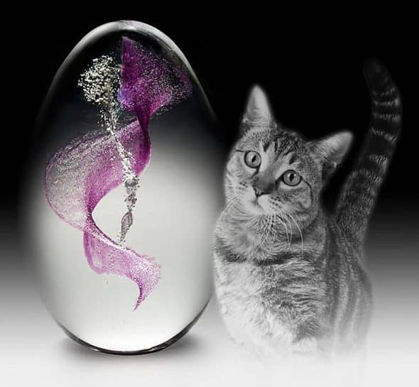 Crystal Remembrance Pet Memorial Mini Egg Gift for Pet Owner