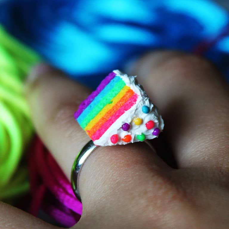 Cutetreats Rainbow Cake Ring Cool Give away