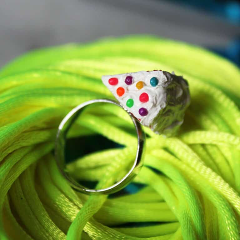 Cutetreats Rainbow Cake Ring Nice Accessory