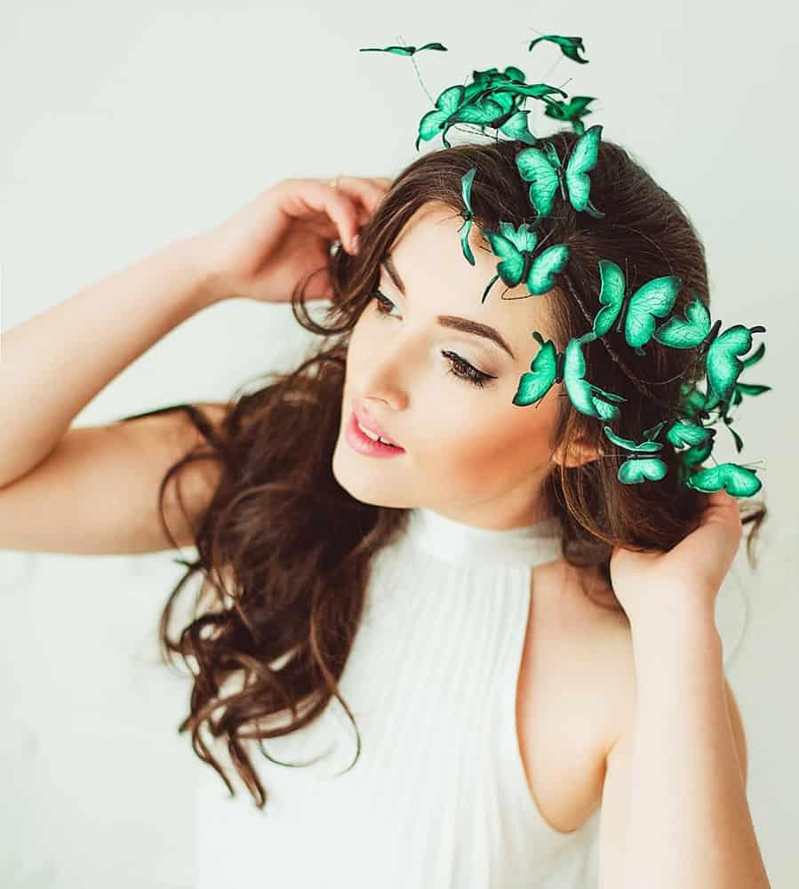 Eten Iren Turquoise Wedding Butterflies Crown Cool Tiara