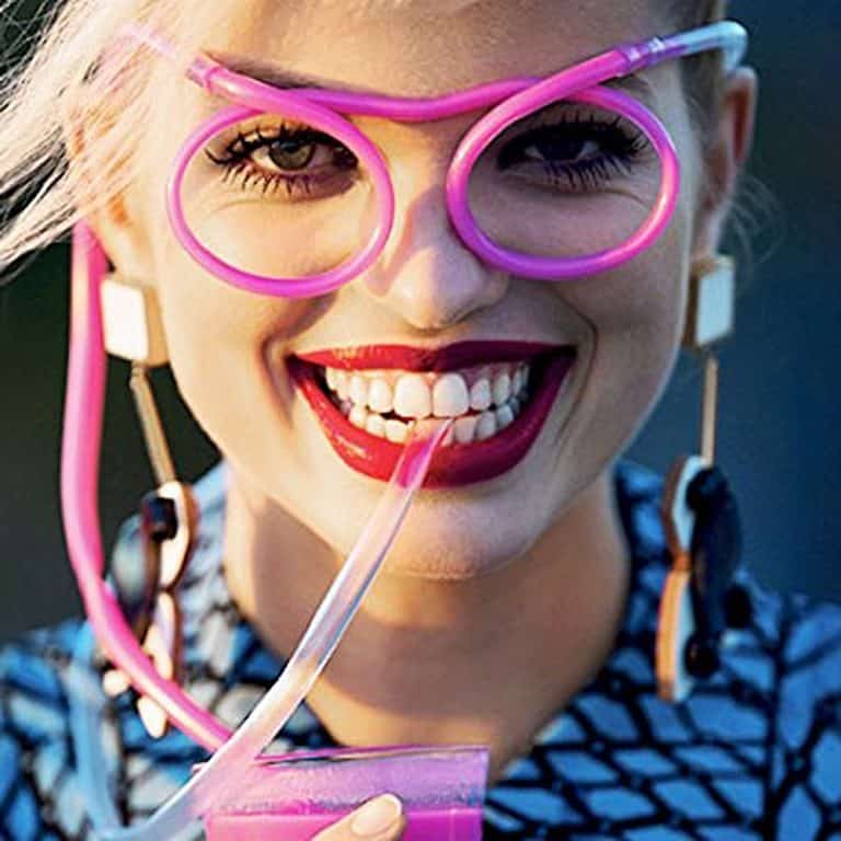 Fosters Drinking Straw Eyeglasses Fun Gift Idea