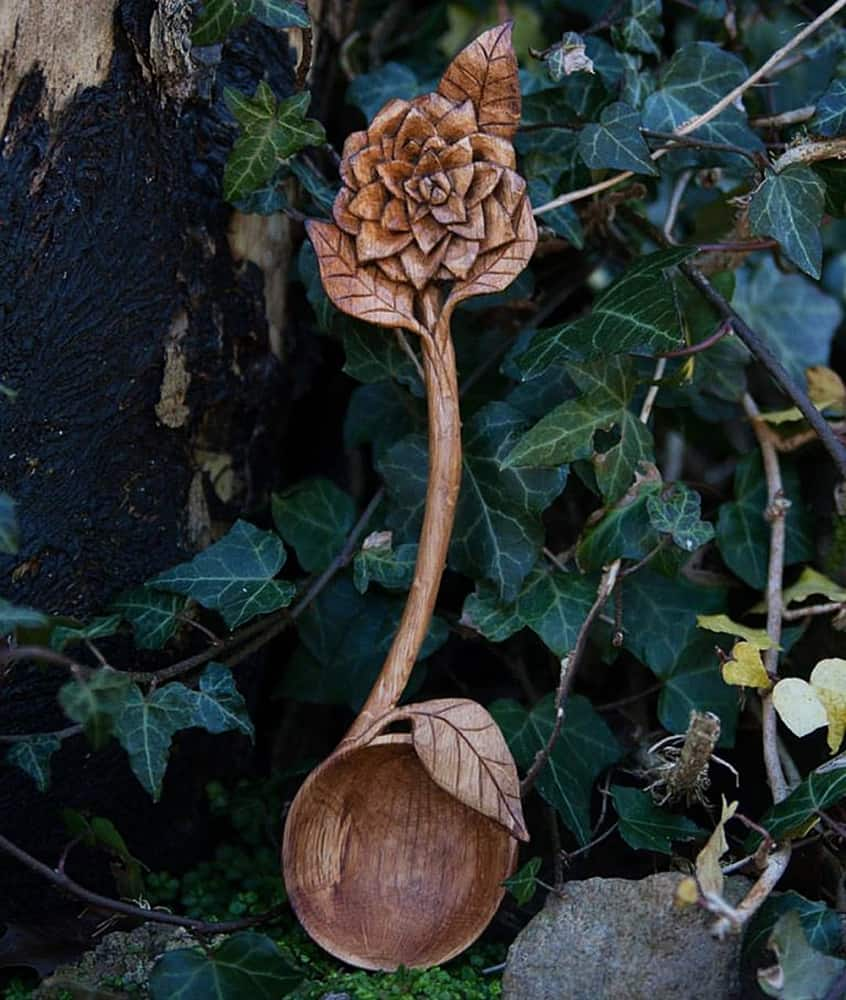 Giles Newman Hand Carved Wooden Spoons - NoveltyStreet
