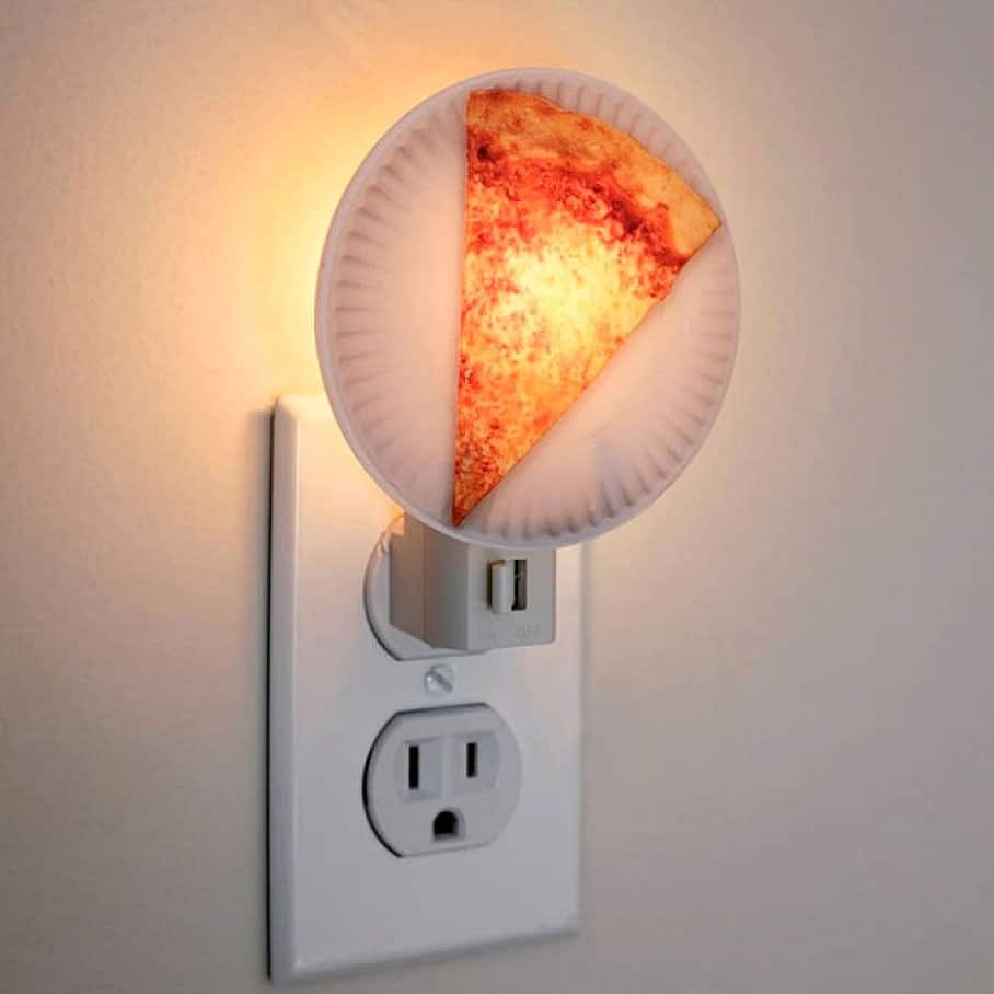 Kikkerland Pizza Night Light Cool Gift Idea