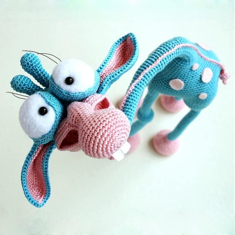 Little Owls Hut Goofy Giraffe Crochet Pattern Cool Gift for Her