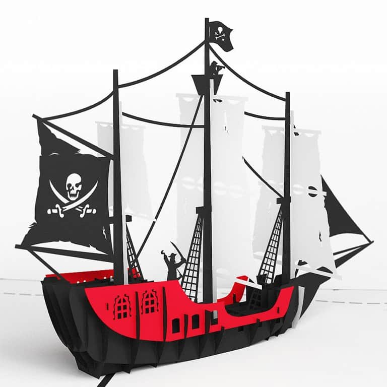 Love Pop Cards Pirate Ship Pop Up Birthday Card Cool Novelty Item