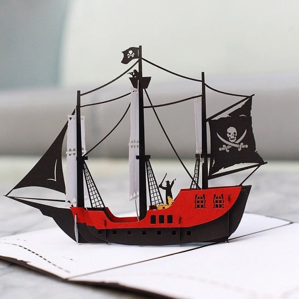 Love Pop Cards Pirate Ship Pop Up Birthday Card Gift Idea