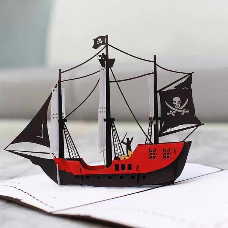 Love Pop Cards Pirate Ship Pop Up Birthday Card Gift Idea