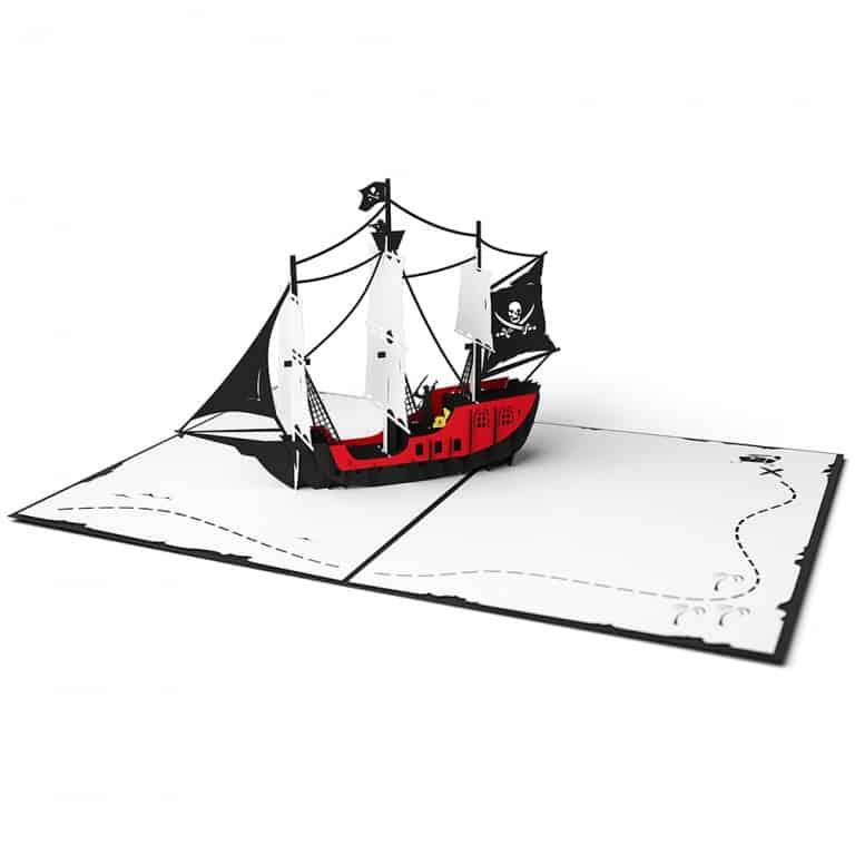 Love Pop Cards Pirate Ship Pop Up Birthday Card Nice Kirigami Design