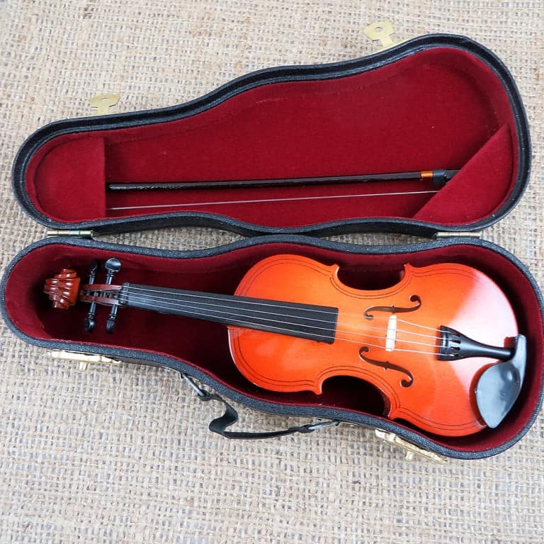 Miniature Personalized Violin Cool Home Accessory