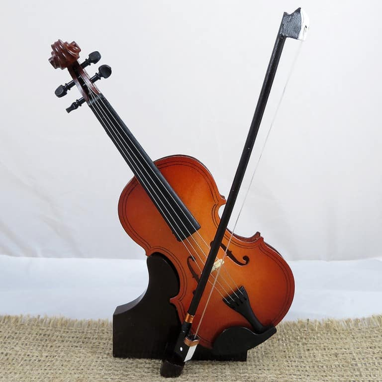Miniature Personalized Violin Gift Idea for a Musician Friend