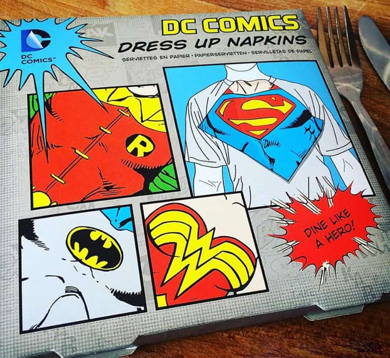 Paladone Products DC Comics Dress Up Napkins Gift Idea for Giveaway
