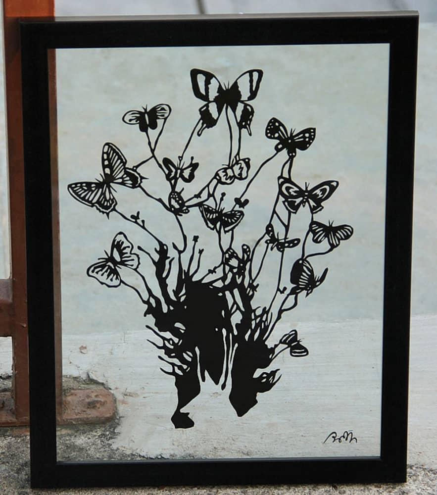 Parth Kothekar Papercut Art Cool Wall Decoration