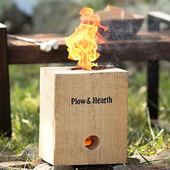 Plow & Hearth Blazing Block Portable Bonfire Gift Idea for Outdoor