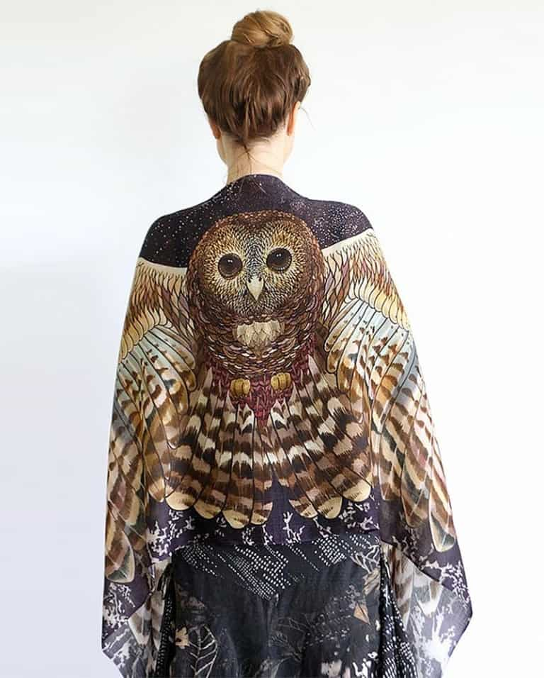 Shovava Owl Wings Scarf Beautiful Wraps