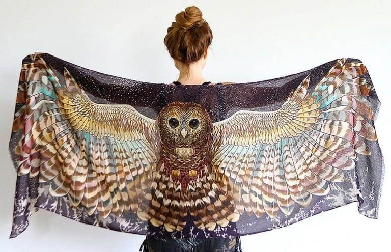 Shovava Owl Wings Scarf Nice Accessory