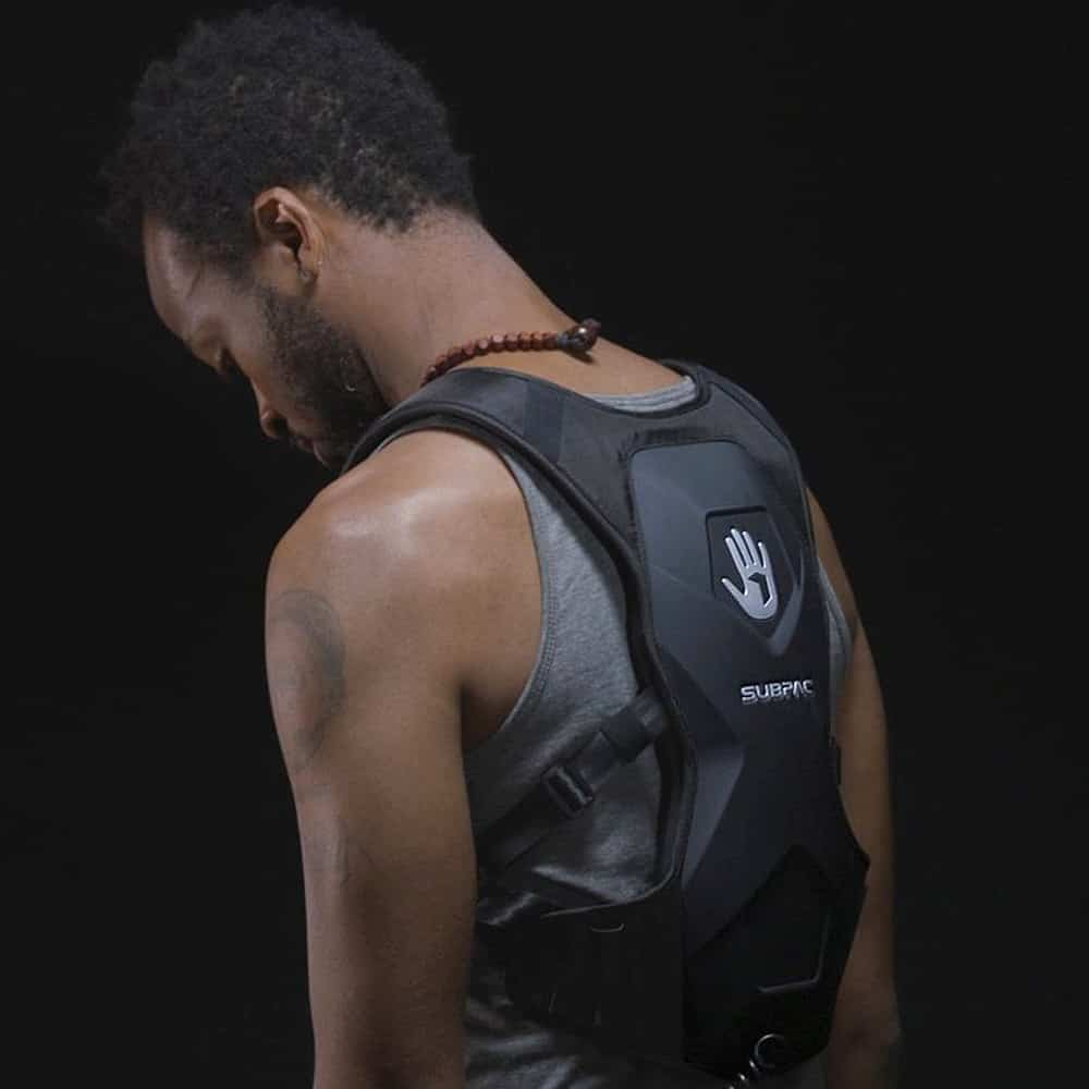 Subpac M2 Wearable Tactile Bass System Cool Backpack