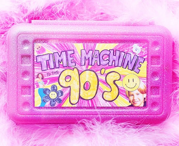 Sweet and Lovely Time Machine To The 90s Nostalgia Kit Nice Gift for Her