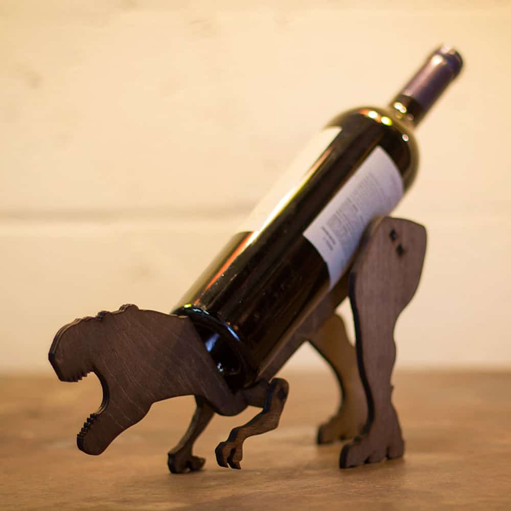 Holds Your Wine Bottle With A Roar