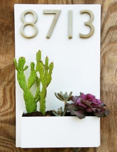 A more modern, stylish and green address plaque.