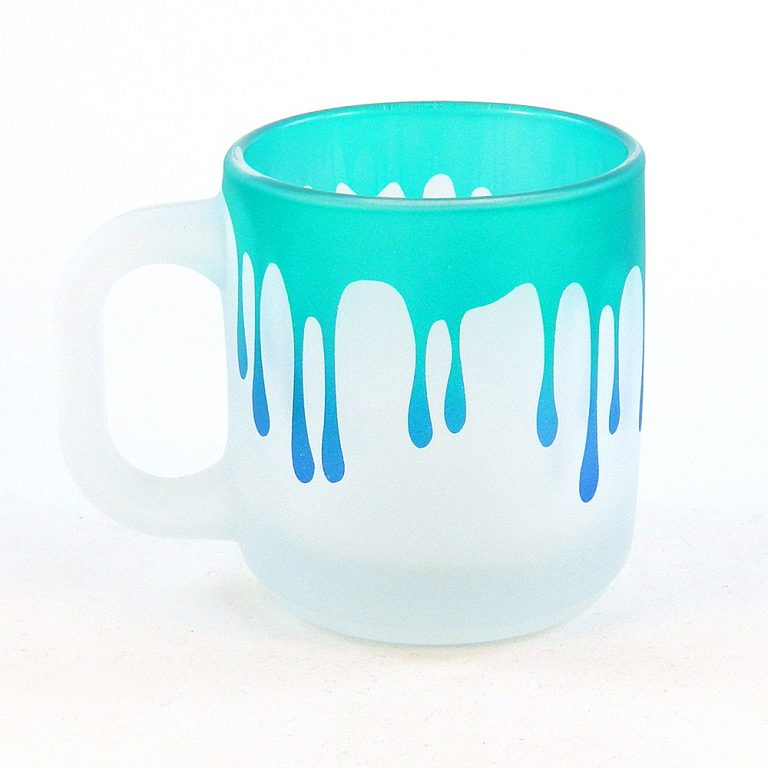 Woodeye Glassware Frosted Style Dripping Coffee Mug Awesome Tableware