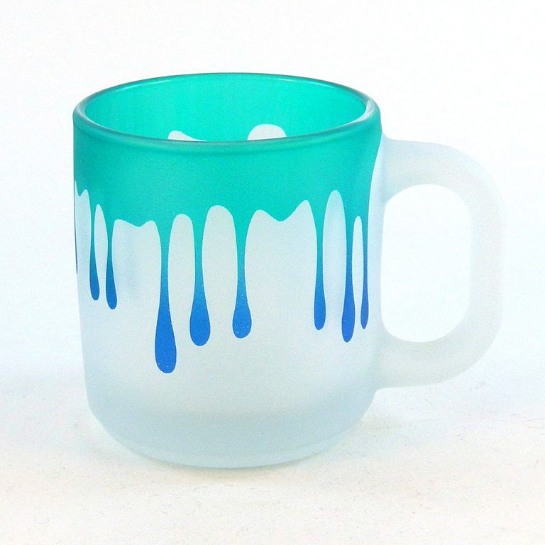 Woodeye Glassware Frosted Style Dripping Coffee Mug Cool Cup