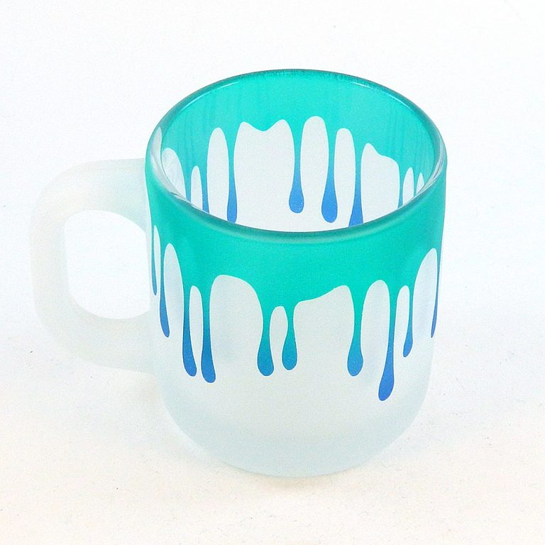 Woodeye Glassware Frosted Style Dripping Coffee Mug Gift Idea for Giveaway