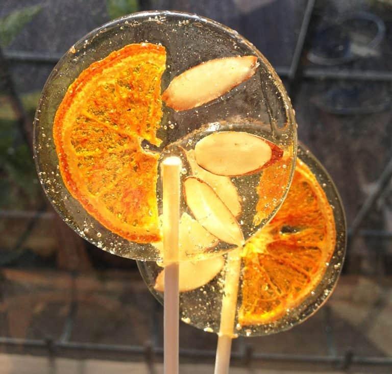 A Secret Forest Italian Bergamot Lollipops With Tangerine Slices & Slivered Almonds Gift for Kids