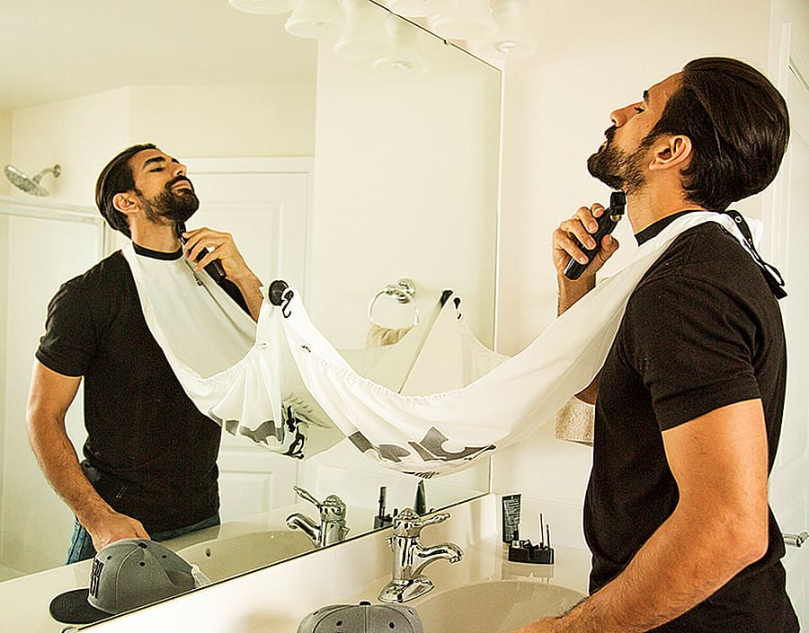 Shave your beard without making a mess.