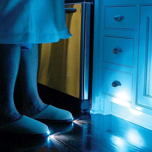 Night time is brighter with these fluffy slippers on.