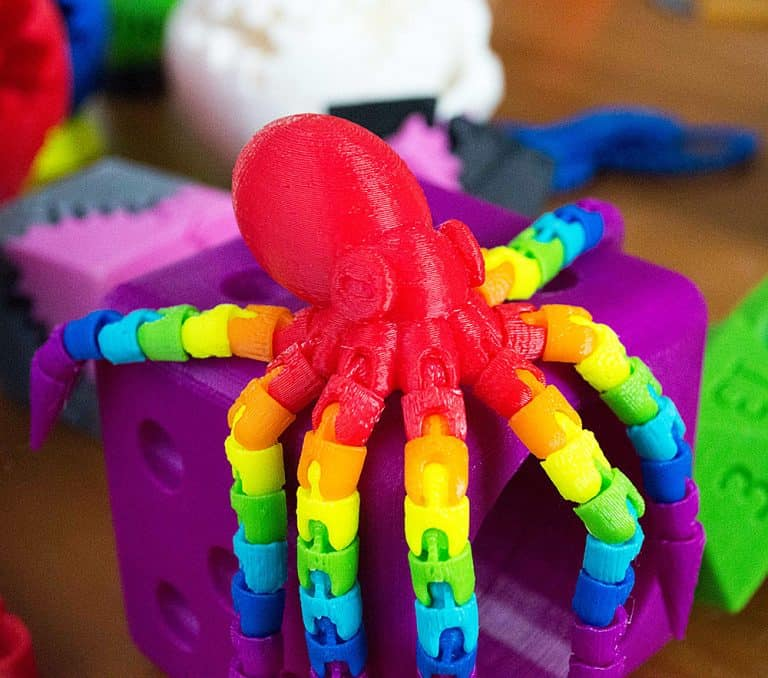 Carry The What 3d Printed Rainbow Octopus Toy Cool Gift Idea for Kids