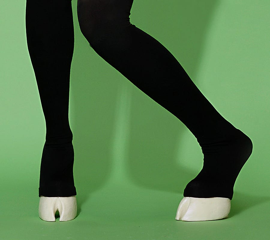 Chaos Costumes Unisex Hoof Shoes and Thigh High Leggings Cool Garments