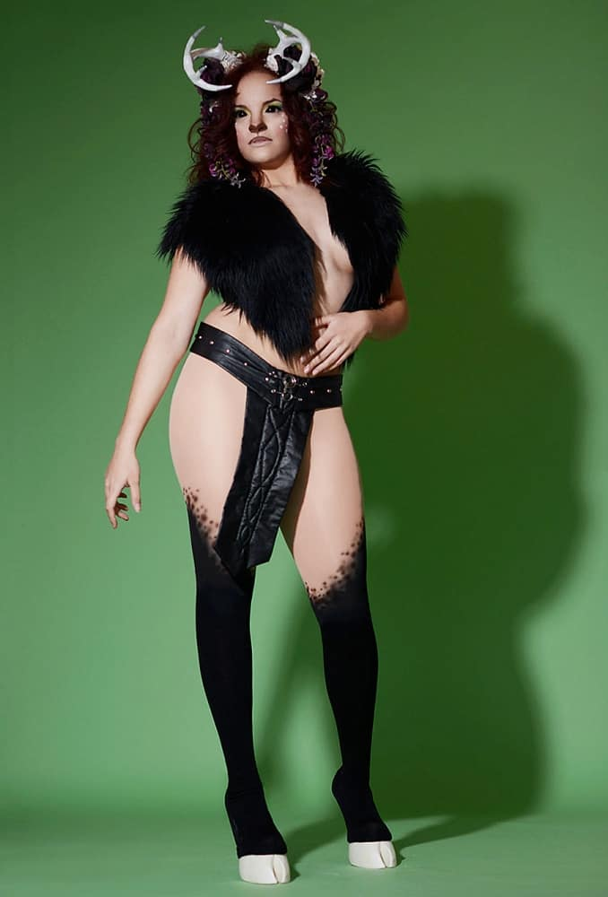 Chaos Costumes Unisex Hoof Shoes and Thigh High Leggings Good for Fashion