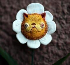 Your very own furry feline flower.