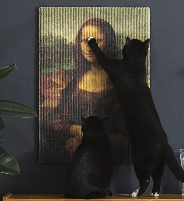 Precious art replica for your cat to scratch.